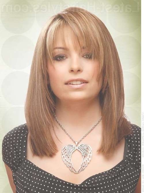 36 Bob With Bangs Hairstyle Ideas Trending For 2018 Inside Long Bob Haircuts With Bangs And Layers (View 2 of 15)