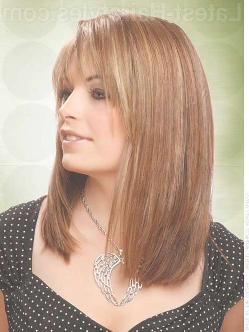 36 Bob With Bangs Hairstyle Ideas Trending For 2018 Pertaining To Shoulder Length Bob Haircuts With Bangs (View 5 of 15)