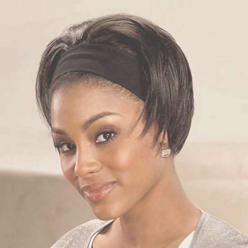 37 Flattering Short Natural Black Hairstyles – Cool & Trendy Short Intended For Bob Hairstyles With Headband (View 11 of 15)