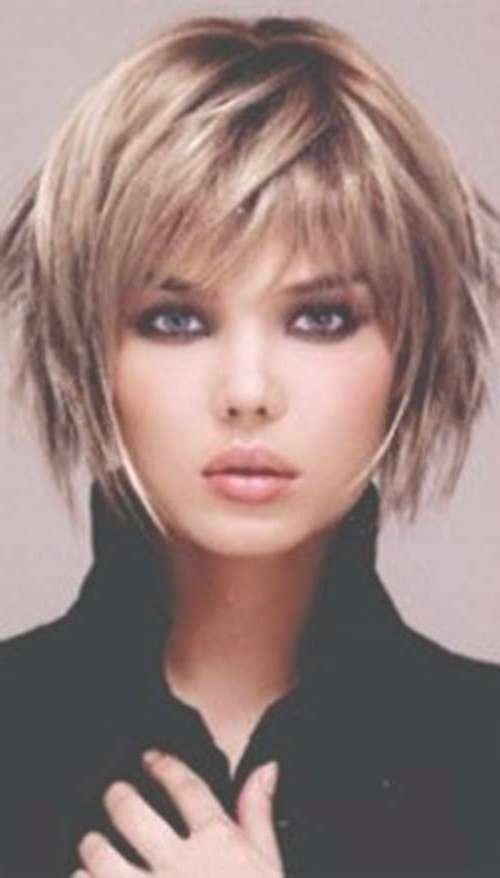40 Short Layered Haircuts For Women   The Best Short Hairstyles Throughout Shaggy Bob Hairstyles With Bangs (View 6 of 15)