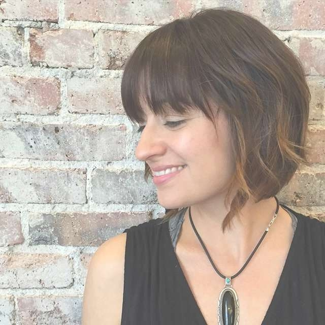 40 Super Cute Short Bob Hairstyles For Women 2018 | Styles Weekly With Regard To Short Bob Haircuts Bangs (View 8 of 15)