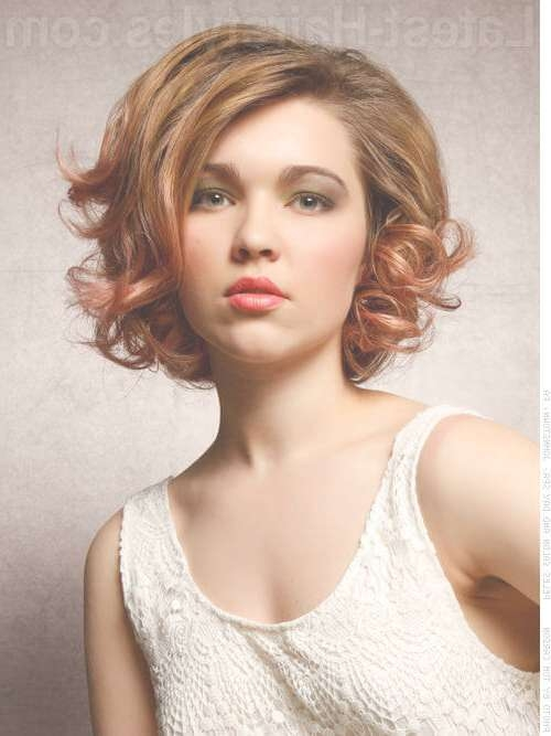 48 Perfect Hairstyles For Round Faces Trending 2018 Regarding Bob Hairstyles For Round Faces And Curly Hair (View 4 of 15)