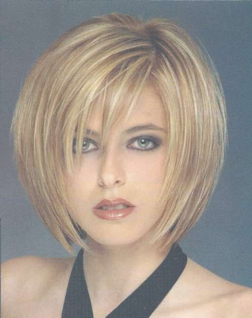 55 Cute Bob Hairstyles For 2017: Find Your Look Intended For Layered Bob Haircuts For Round Faces (View 13 of 15)