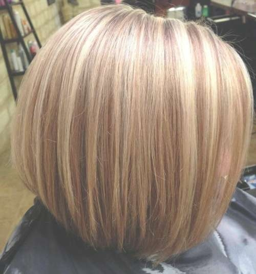 55 Cute Bob Hairstyles For 2017: Find Your Look Pertaining To Blonde Highlights For Bob Haircuts (View 13 of 15)