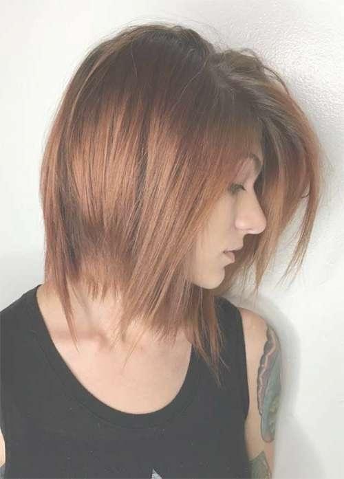 55 Incredible Short Bob Hairstyles & Haircuts With Bangs In Long Bob Haircuts With Bangs (View 14 of 15)
