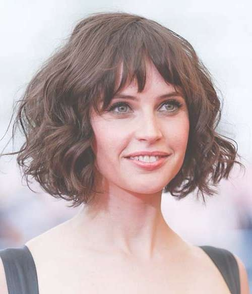 56 Best Hairstyles With Bangs Images On Pinterest   Faces, Fringe With Regard To Short Curly Bob Haircuts With Bangs (View 8 of 15)