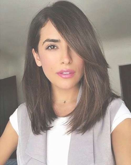 Photos Of Long Bob Hairstyles With Side Bangs Showing 12 Of 15 Photos