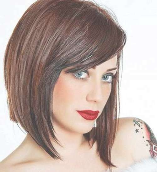 634 Best Hair Images On Pinterest   Ideas, Accessories And Braids With Regard To Medium Bob Haircuts With Side Bangs (View 11 of 15)