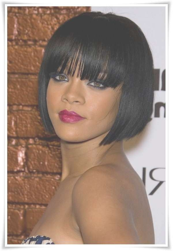 72 Short Hairstyles For Black Women With Images [2018 With Regard To Bob Hairstyles With Bangs For Black Women (View 8 of 15)