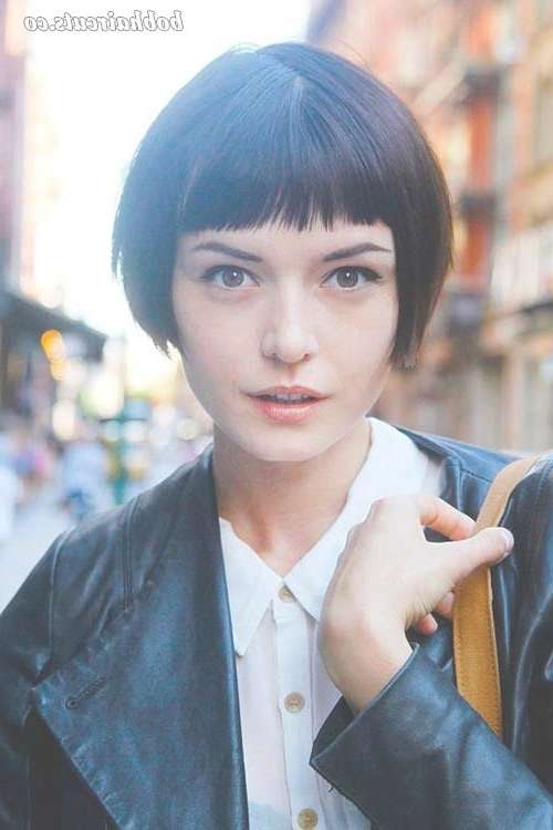 761 Best Short Bobs Images On Pinterest | Hairstyle, Beautiful And Intended For Very Short Bob Hairstyles With Bangs (View 13 of 15)