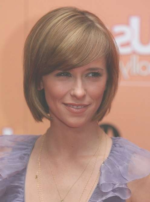 80 Popular Short Hairstyles For Women 2018 – Pretty Designs With Bob Hairstyles Side Swept Bangs (Gallery 7 of 15)