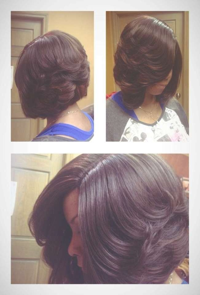 83 Best Flawless Hair (Bob & Weave) Images On Pinterest Regarding Layered Bob Haircuts For Black Hair (View 4 of 15)