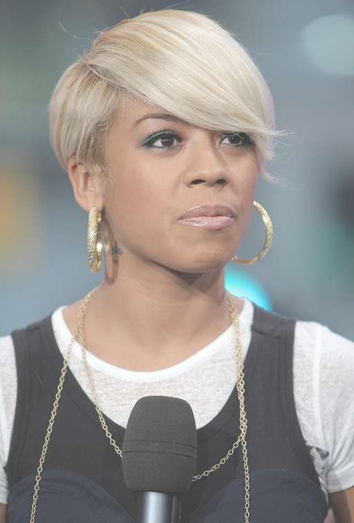 African American Short Haircut With Bangs: Edgy Urban Slick Hair For Keyshia Cole Bob Hairstyles (View 11 of 15)