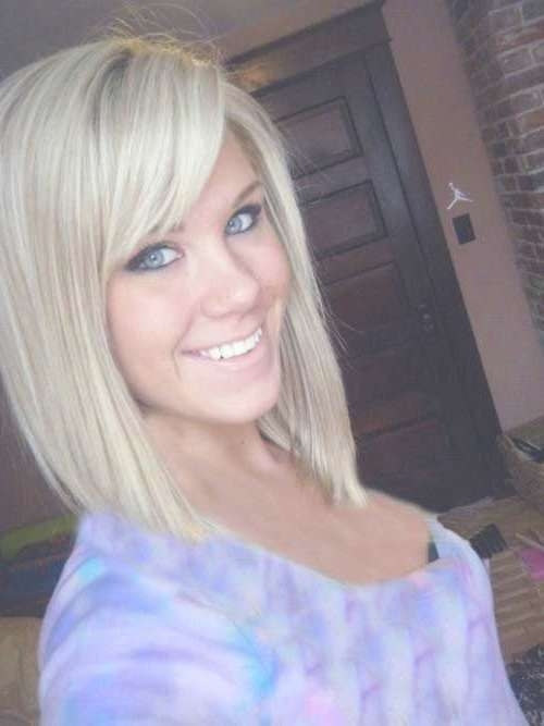 Angled Bobs With Bangs | Short Hairstyles 2016 – 2017 | Most Intended For Cute Bob Haircuts With Side Bangs (View 11 of 15)