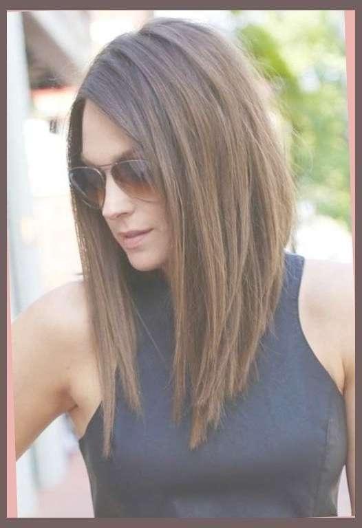 Angled Long Haircut Pertaining To Hairstyle … … | Pinteres… Throughout Very Long Bob Haircuts (View 13 of 15)