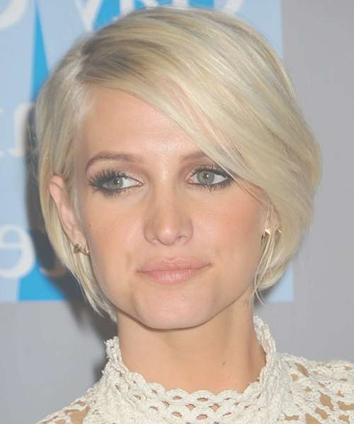 Ashlee Simpson Short Straight Casual Bob Hairstyle – Light Blonde For Ashlee Simpson Bob Haircuts (View 8 of 15)