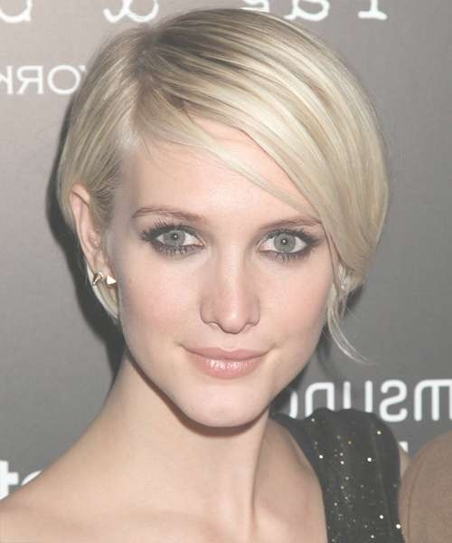 Ashlee Simpson Short Straight Casual Bob Hairstyle – Light Blonde Regarding Ashlee Simpson Bob Haircuts (View 2 of 15)