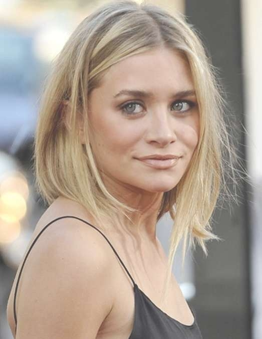 Ashley Olsen Bob Hairstyle – Cute Short Haircut For Women Intended For Edgy Long Bob Haircuts (View 5 of 15)