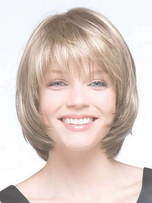Beautiful Short Bob Hairstyles And Haircuts With Bangs | Round Intended For Layered Bob Haircuts For Round Faces (View 9 of 15)