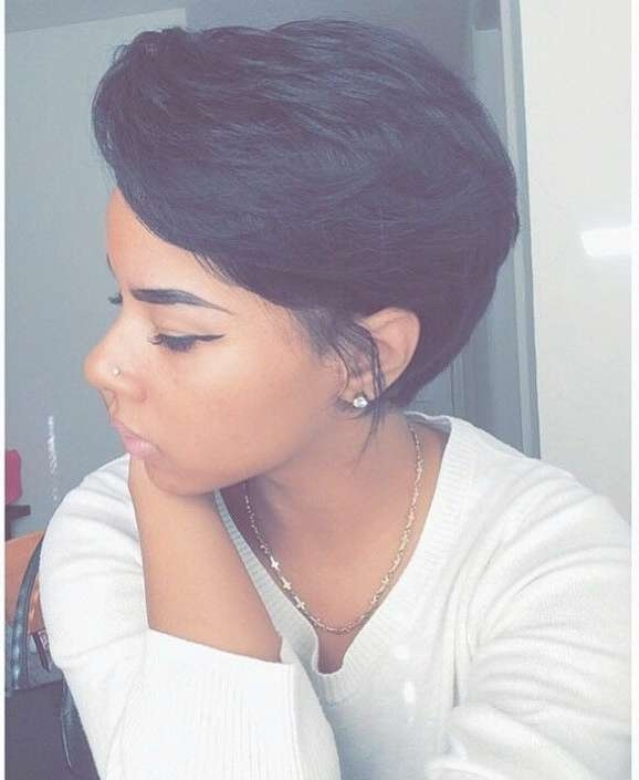 Best 25+ African American Short Hairstyles Ideas On Pinterest Pertaining To Short Bob Hairstyles For African American Hair (View 13 of 15)