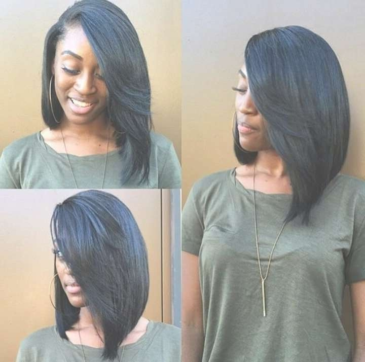 Featured Photo of Black Hair Long Bob Haircuts