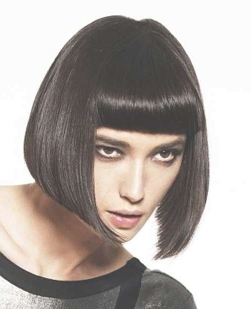 Best 25+ Black Bob Hairstyles Ideas On Pinterest | Straight Black With Black Bob Haircuts With Bangs (View 15 of 15)