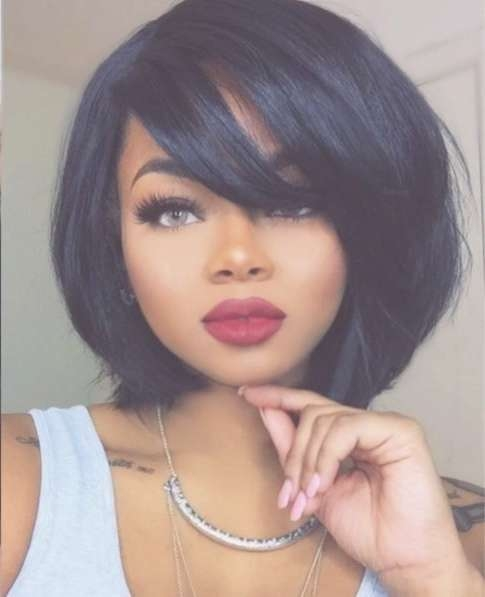 Best 25+ Black Hair Bob Ideas On Pinterest | Black Hair Cuts Throughout Black Bob Haircuts With Bangs (View 8 of 15)