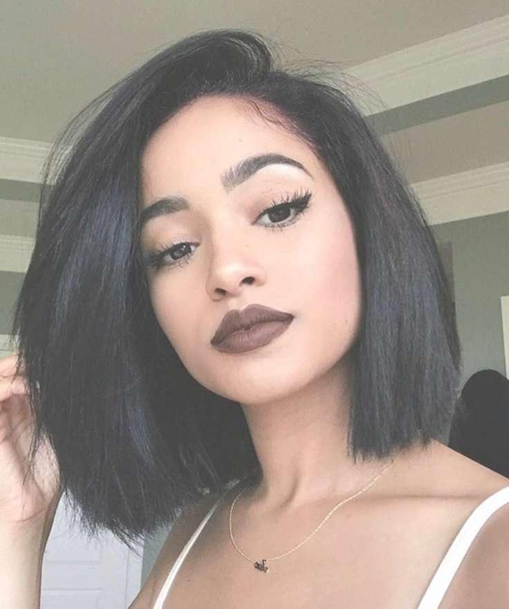 Best 25+ Black Hair Bob Ideas On Pinterest   Black Hair Cuts With Regard To Dark Hair Bob Haircuts (View 5 of 15)