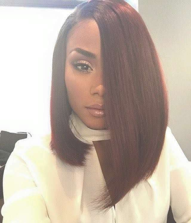 Best 25+ Black Long Bob Ideas On Pinterest | Black Hair Long Bob Throughout Long Bob Haircuts For Black Women (View 5 of 15)