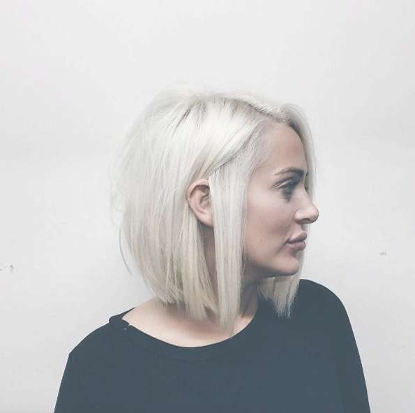 Best 25+ Blonde Bob Hairstyles Ideas On Pinterest | Blonde Bobs Intended For Short Blonde Bob Hairstyles (View 13 of 15)
