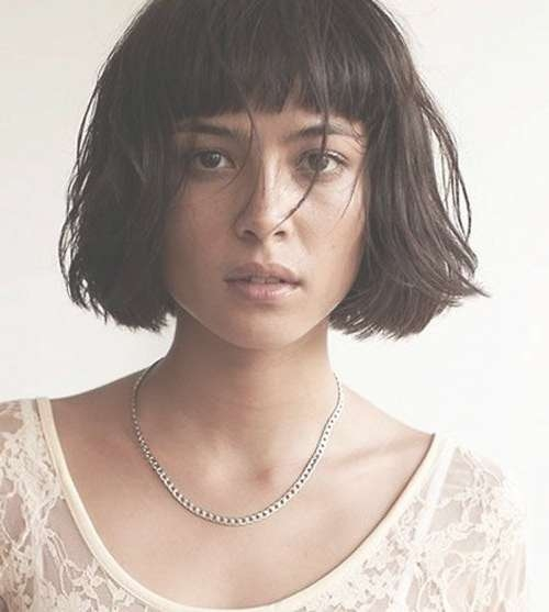 Best 25+ Bob Haircut Bangs Ideas On Pinterest | Short Bobs With With Regard To Bob Hairstyles With Fringes (View 11 of 15)