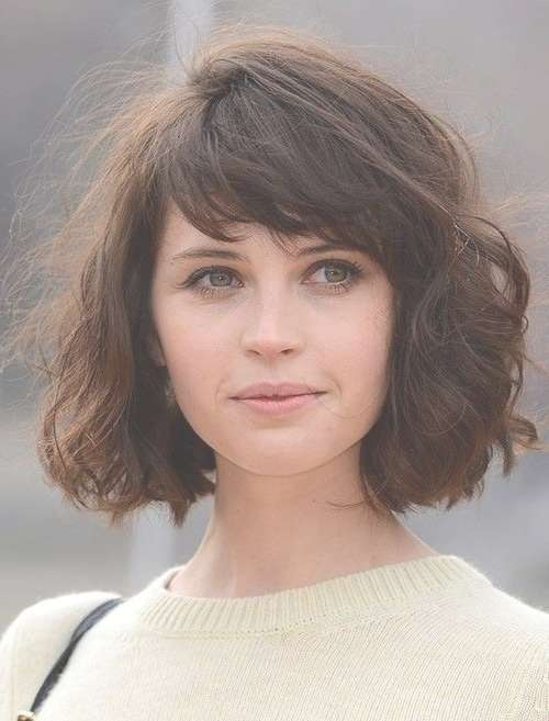 Best 25+ Bob Hairstyles With Bangs Ideas On Pinterest | Short Bobs Throughout Curly Bob Haircuts With Bangs (View 13 of 15)