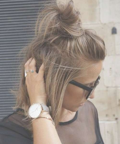 Best 25+ Bob Updo Hairstyles Ideas On Pinterest | Bridesmaid Hair Intended For Bob Hairstyles Updo Styles (View 4 of 15)
