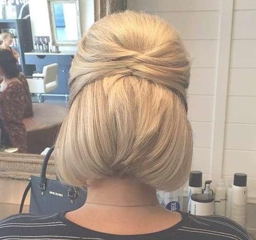 Best 25+ Bob Updo Hairstyles Ideas On Pinterest | Bridesmaid Hair Regarding Bob Hairstyles Updo Styles (View 5 of 15)