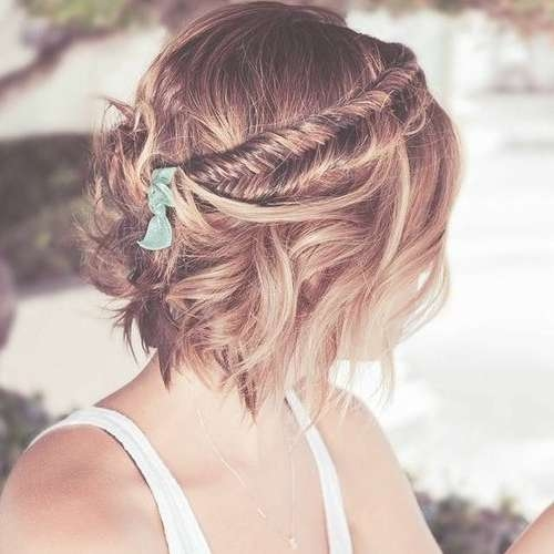 Best 25+ Bob Wedding Hairstyles Ideas On Pinterest   Short Hair Throughout Wedding Updos For Bob Haircuts (View 2 of 15)