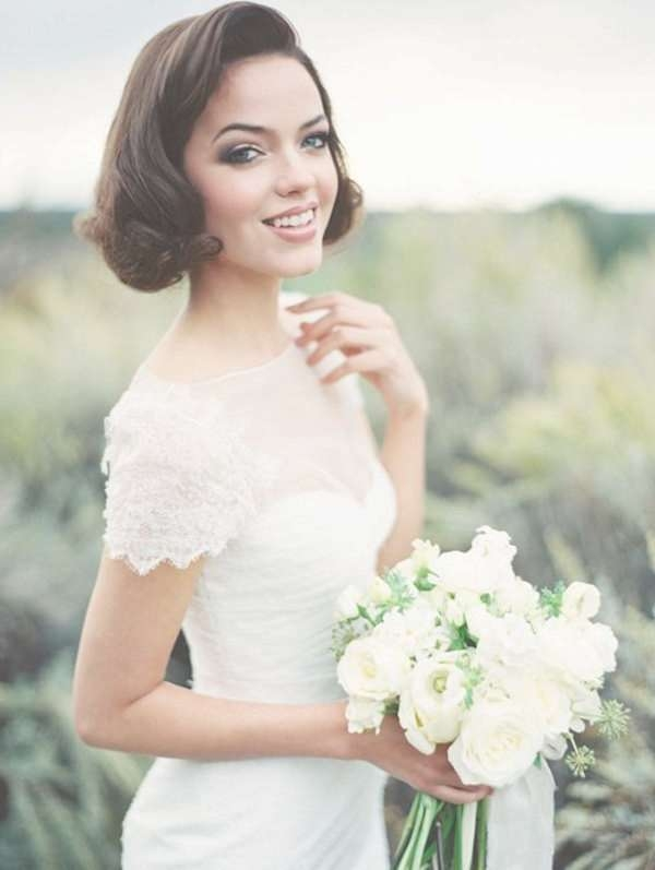 Showing Photos of Wedding Updos For Bob Haircuts (View 13 of 15 Photos)