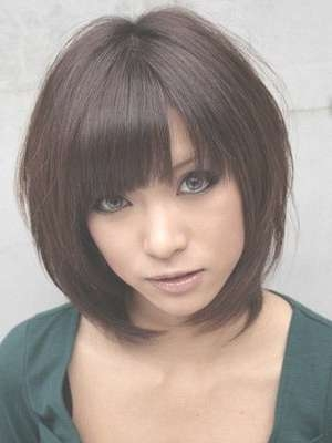 Best 25+ Bob With Bangs Ideas On Pinterest | Bob Haircut With In Cute Bob Hairstyles With Bangs (View 4 of 15)