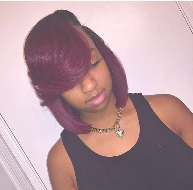 Best 25+ Burgundy Hairstyles Ideas On Pinterest | Dark Cherry Hair In Burgundy Bob Hairstyles (View 3 of 15)