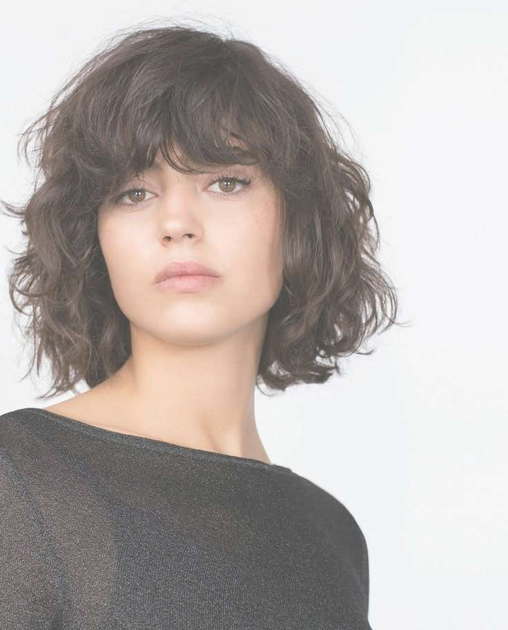 Best 25+ Curly Bob Bangs Ideas On Pinterest | Curly Fringe, Curly For Curly Bob Haircuts With Bangs (View 2 of 15)