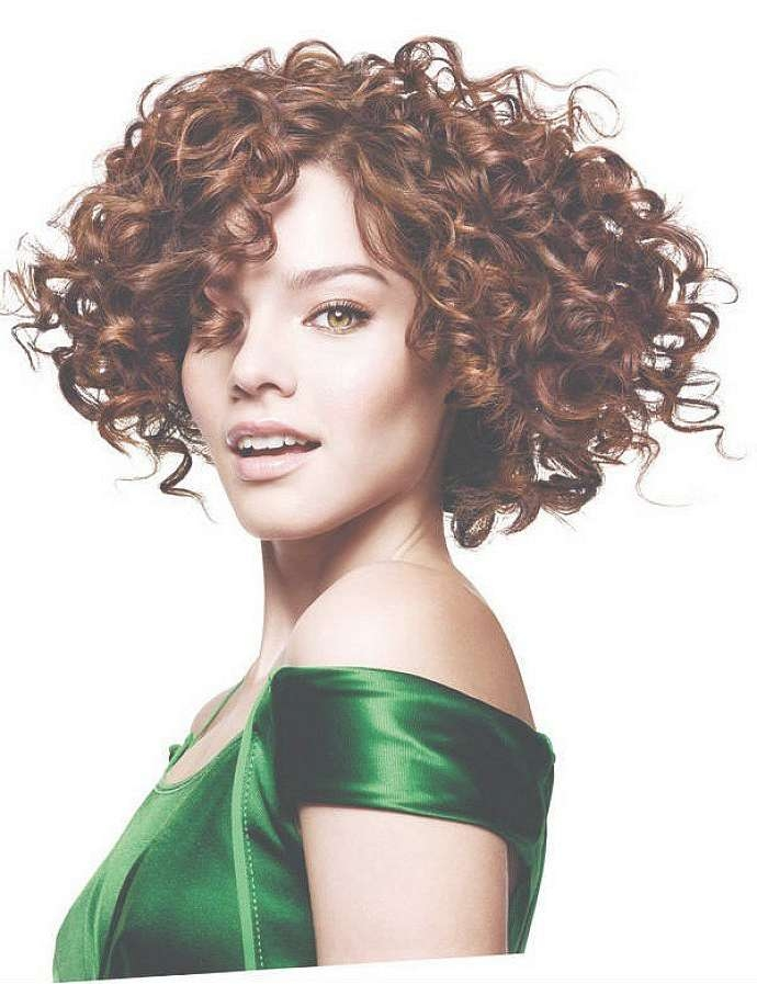 Best 25+ Curly Bob Bangs Ideas On Pinterest   Curly Fringe, Curly With Short Curly Bob Haircuts With Bangs (View 9 of 15)