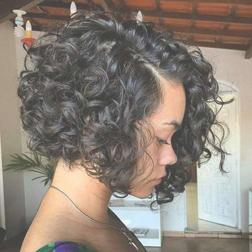 Best 25+ Curly Bob Hairstyles Ideas On Pinterest | Medium Wavy Bob With Curly Short Bob Haircuts (View 3 of 15)