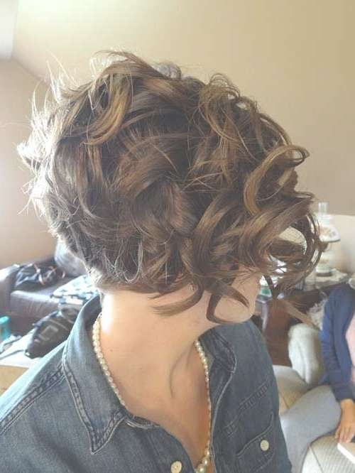 Best 25+ Curly Bob Hairstyles Ideas On Pinterest | Medium Wavy Bob With Regard To Short Curly Bob Haircuts (View 10 of 15)