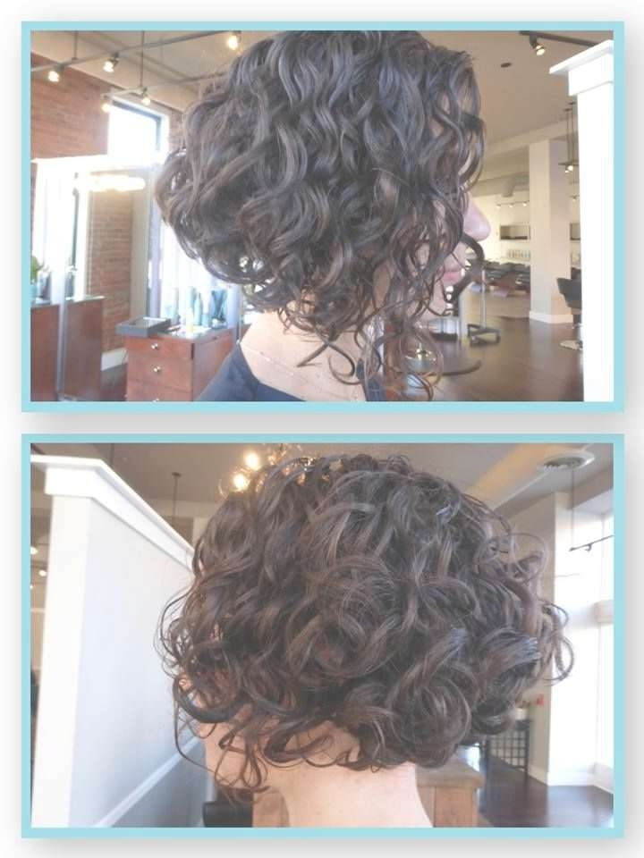 Inverted Stacked Bob Curly Hair Hair Color Ideas And Styles For 2018