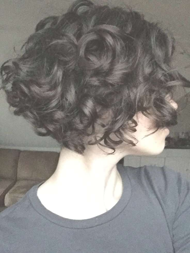 Best 25+ Curly Stacked Bobs Ideas On Pinterest   Short Perm, What Regarding Stacked Bob Haircuts For Curly Hair (View 8 of 15)