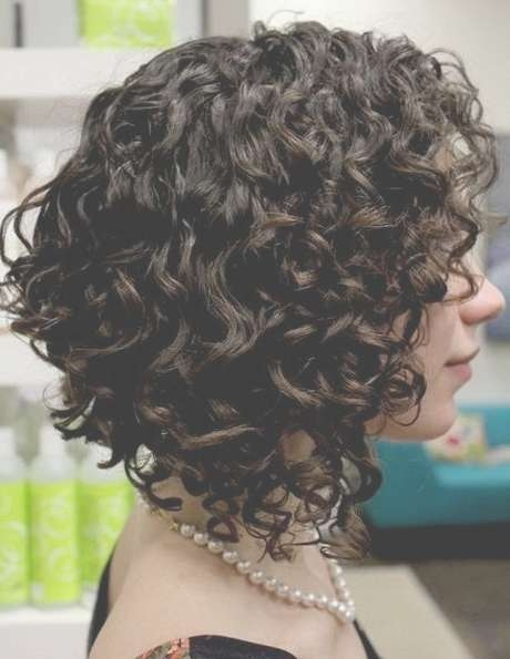 Best 25+ Curly Stacked Bobs Ideas On Pinterest   Short Perm, What Regarding Stacked Bob Haircuts For Curly Hair (View 7 of 15)