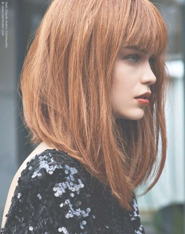 Best 25+ Extra Long Bobs Ideas On Pinterest | Long Lob, Long Bobs With Regard To Very Long Bob Haircuts (View 7 of 15)
