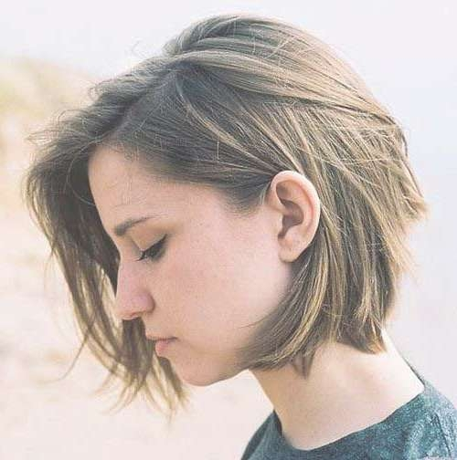 Best 25+ Girls With Short Hair Ideas On Pinterest | Short Hair Regarding Bob Haircuts For Women With Thick Hair (View 11 of 15)