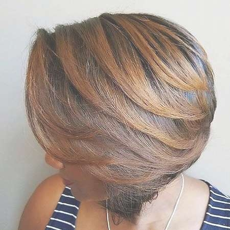 Best 25+ Layered Bob Hairstyles For Black Women Ideas On Pinterest For Black Layered Bob Haircuts (View 13 of 15)