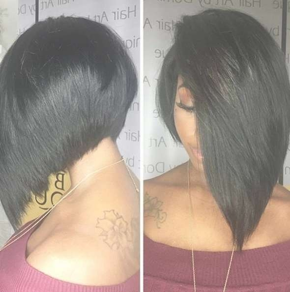 Best 25+ Layered Bob Hairstyles For Black Women Ideas On Pinterest Throughout Black Layered Bob Haircuts (View 15 of 15)