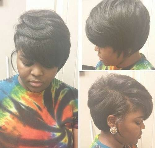 Best 25+ Layered Bob Hairstyles For Black Women Ideas On Pinterest With Bob Haircuts African American Women (View 10 of 15)